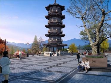 四川古塔建筑整体规划